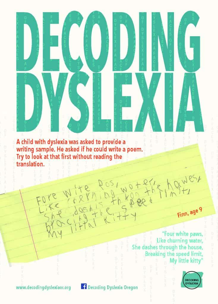Dyslexia Is Very Treatable So Why Arent >> Posters Postcards Decoding Dyslexia Oregon