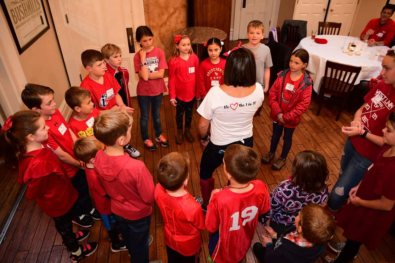 Barb leads kids activity