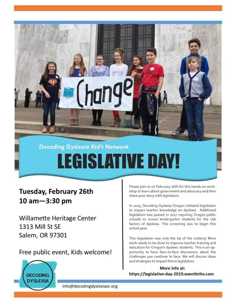 Kid's Network Legislative Day! @ Salem